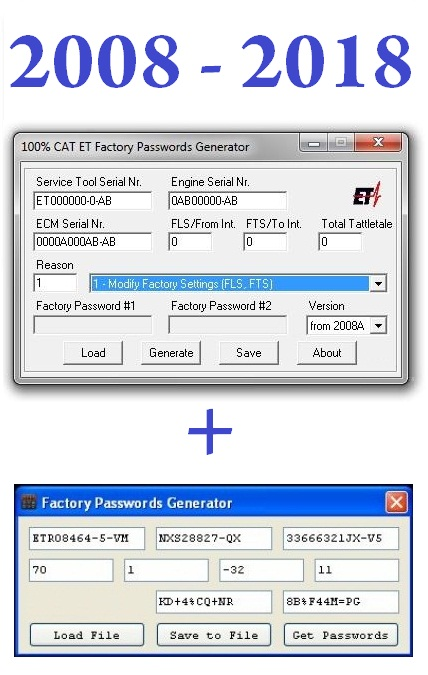 New CAT Factory Password generator v2018 UNLIMITED
