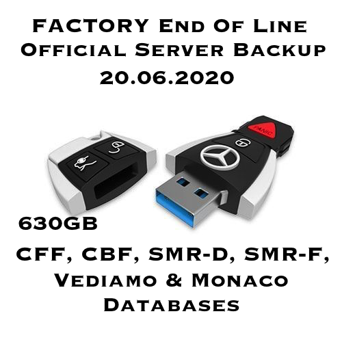 Mercedes Flashware Official Server Backup 630gb