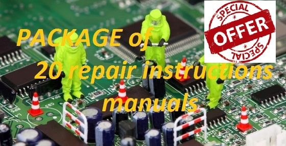 Package of 20 repair manuals of your choice