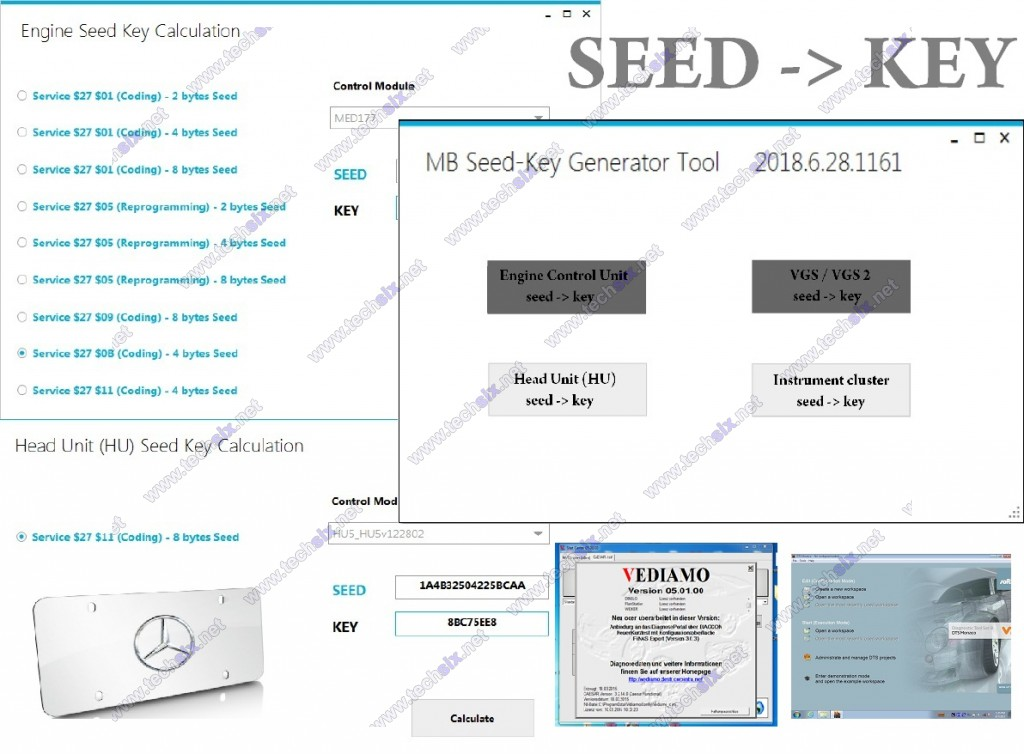 Mercedes Vediamo Monaco Seed Key calculator generator